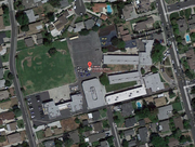 Aerial view of Emperor School, Temple City, CA.