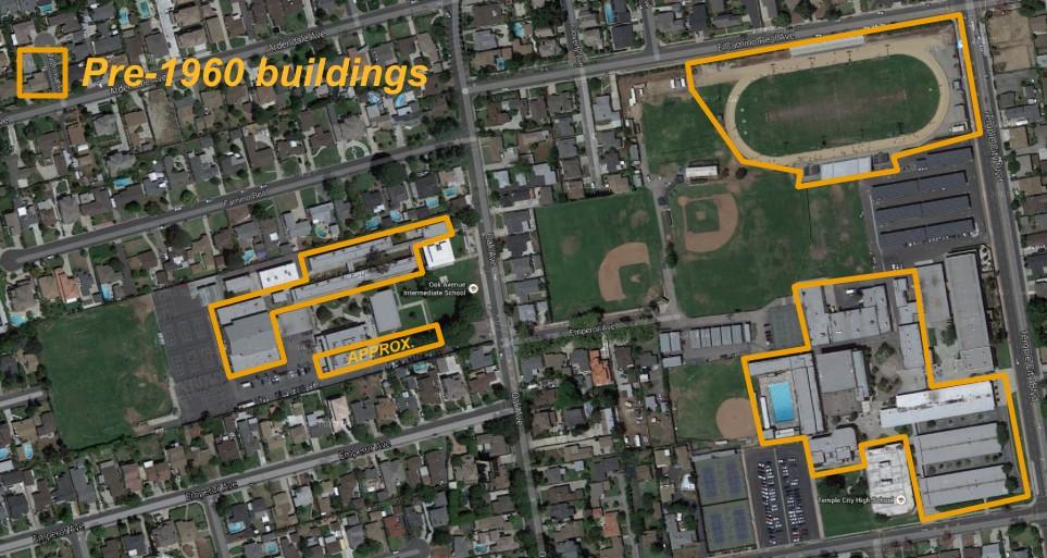Temple City High School and Oak Avenue Intermediate School.